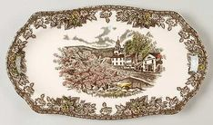 """12"""" Sandwich Tray in the Friendly Village, The (""""made In England"""" pattern by Johnson Brothers"""