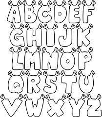 moldes de letras do alfabeto com antenas para imprimir