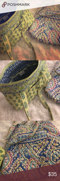 Vera Bradley bundle Great condition... The green bag has elephants and paisley print, the blue bag print is paisley and floral... Vera Bradley Bags Shoulder Bags