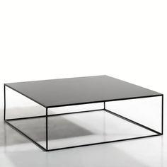 Table basse métal carrée, Romy AM.PM : prix, avis & notation, livraison. La table basse en métal Romy. La finesse de son piètement donne à cette table basse une ligne pure et graphique, qui s'intégrera aisément dans tous les styles d'intérieur. Caractéristiques : - En métal, finition époxy. Dimensions : - L100 x H33 x P100 cm.- Plateau épaisseur 14 mmDimensions et poids du colis : L115,5 x H40,5 x P110 cm; 46,5 kg.