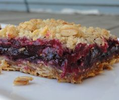 Blueberry Rhubarb Bars - made these last night and they were delicious!