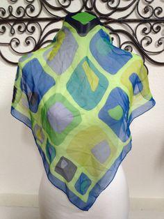 Vintage Retro 1960's Italian Sheer Silk by TexasCowgirlVintage