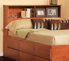 "Bookcase Headboard (46"" High), Full / Queen"