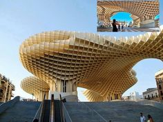A waffle like structure in the middle of Seville, Spain. Looks strange and alien like at first glance - but I think it's pretty awesome. The amount of work that went into creating it and designing it must have been insane!   Project : Metropol Parasol Redevelopment of Plaza de la Encarnacion, Seville, Spain