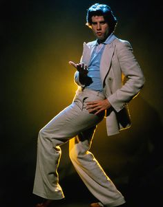 "John Travolta in a slightly different pose from his ""Saturday Night Fever"" days"