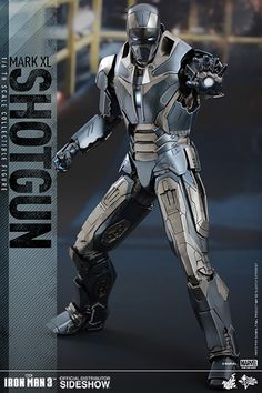 The Iron Man Mark XL Shotgun Sixth Scale Figure by Hot Toys is now available at Sideshow.com for fans of Marvels Iron Man 3.