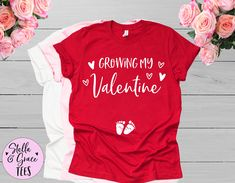 Valentines Day Pregnancy Announcement, Funny Baby Announcement Shirt, Valentines Day Pregnancy Reveal, Funny Baby Reveal, Pregnant Tshirt