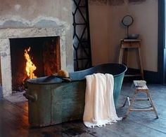 Bathtub and fireplace - Oh YES PLEASE!!!
