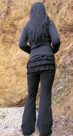 Ruffle Bum Yoga Pants by HerbanDevi on Etsy, $72.00