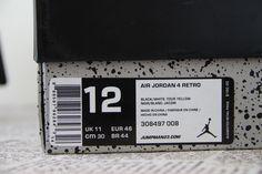 Air Jordan 4 Retro Thunder, 308497-008