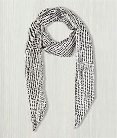 Echarpe femme cravate imprimé pois ECRU Grain de malice 3€
