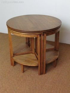 1930 s limed oak circular coffee table Heals In the manner of Heals
