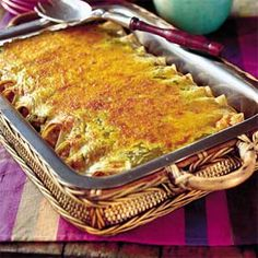 Chicken Enchiladas Recipe - Just had this at a work party and it was excellent