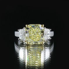 4.71CT GIA Radiant 3 Stone Trapezoid Ring by WonderJewelers $155,837.04 AUD