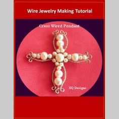 T16 Cross Wired Pendant - You can access the tutorial for free! Join http://www.diybeadingclub.com/amember/cart/index/product/id/52/c/ #beading #beadingtutorial #tutorial #jewelrymaking #jewelry #handmadejewelry #handmade #diy #diyjewelry #diyjewelrymaking