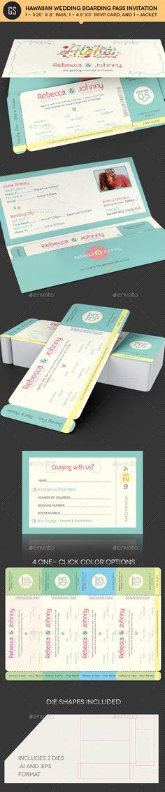 Wedding Cruise Boarding Pass Invitation Template Church Print - boarding pass template