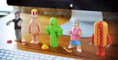 A little bit of happiness for your desk. by Yum Yum , via Behance