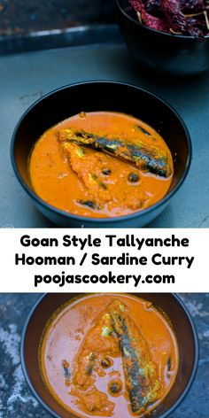 Tangy and flavorful Tallyanche hooman or Sardine curry prepared using grated coconut paste infused with spices goes well with hot and steamy rice.
