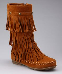 $24.99 Love this little girls' Rush Fringy Boot by Yoki on #zulily today!