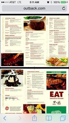 Outback gf menu