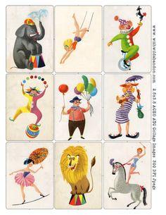 Cirque Art et fiches numériques de collage cru par withwildabandon