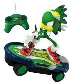 "Jet the Hawk ~8"" Sonic Free Riders Remote Controlled Racer by NKOK. $39.99. From the hit Sega video games, here comes the radio controlled racer featuring characters from the Sonic Free Riders series. This RC free rider racer has a full function remote control and allowing you to tear through the streets or throught the dirt. Available motions includes: Forward, reverse, left and right turns, and stop. All you need to get started is 6 AA batteries. Grab yours quick! ..."