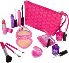 Love Series Designer Girls Pretend Play Makeup Kit with Pink Heart Bag – Pixie Crush Makeup Kit For Kids, Kids Makeup, Little Girl Makeup Kit, Little Girl Toys, Toys For Girls, Makeup Toys, Elf Makeup, Minnie Mouse Toys, Barbie Dolls Diy