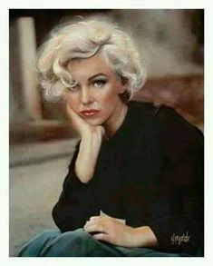 Marilyn Monroe portrait - really good! Marilyn Monroe Kunst, Marilyn Monroe Hair, Marilyn Monroe Artwork, Marilyn Monroe Quotes, Pin Up, Art Visage, Norma Jeane, Divas, Short Hair Styles