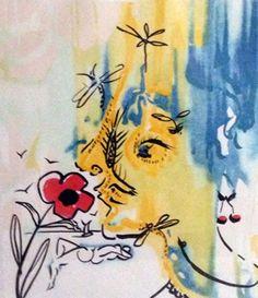 Fleurs Surrealsites Suite - Vanishing Face and Gala's Bouquet AP 1980  by Salvador Dali