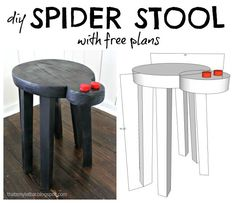 DIY Wood Project - Spider Stool - Plans