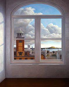Sir Peter Graham Siddell (New Zealand artist, - Looking Out Window View, Window Art, Window Panes, New Zealand Art, Nz Art, Through The Window, Cool Art Drawings, Indigenous Art, Artist Life