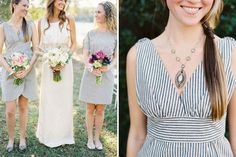 striped bridesmaids dresses-To find more wedding planning tips, DIY, dress ideas and more GO TO: www.endingiseternity.com