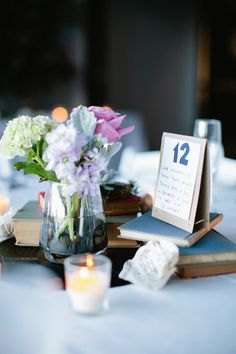12 Purple Wedding Centerpiece Ideas {Mary Dougherty Photography}