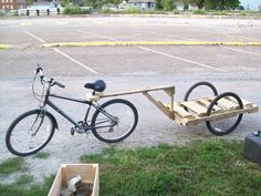 $10.00 DIY Pallet Bike Trailer from Instructables. Great for hauling valuables and emergency supplies around in the event of a disaster.