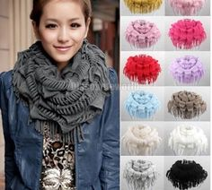 Scarf Women Winter Warm Knitted Neck Circle Shawl Scarf Scarves Wraps WCA071 #Unbranded #Scarf