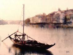 Duoro River - Digital Oil on Canvas - 60cm x 41cm