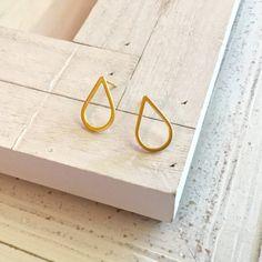 bf681734892b Gold Teardrop Posts Minimalist Earrings Small Teardrop Posts Simple Gold  Geometric Earrings Modern Earrings Gold Jewelry Gold Posts