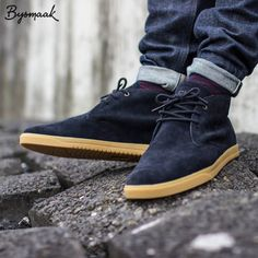 http://chicerman.com  selvedge-socks-shoes:  Clae Strayhorn deep navy suede gum | BijSMAAK sneaker boutique  #Clae #ClaeAllDay #claestrayhorn #onfeet #wivah #womft #gumsoles by @bijsmaak  #menshoes