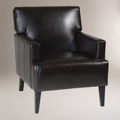 One of my favorite discoveries at WorldMarket.com: Leather Jonathan Armchair