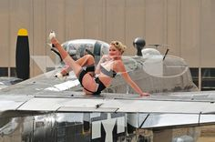 Warbird Pinup Girls 2014 Calendar  #Warbird #Pinup #Girls #2014 #Calendar #Retro #Vintage #1940s #40s #WW2 #Airplane #Classic #Model #Lingerie #Legs