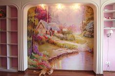 Сказочный пейзаж в детской комнате