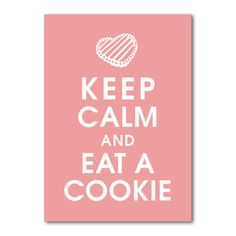 I don't know about the calm part but I'll definitely eat the cookie :)