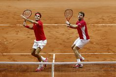 Roger Federer Photos: France v Switzerland - Davis Cup World Group Final: Day Two. They win their doubles match, and Stan The Man won his earlier singles match, so only one match win to go!!!!