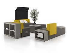 Mobilier - Coin lecture -Downtown Collaborative Office Furniture - Artopex: a wide variety of office storage options! Office Furniture Manufacturers, Furniture Companies, Small Office Furniture, Outdoor Furniture Sets, Salas Lounge, Innovative Office, Comfortable Office Chair, Lounge Seating, Furniture Arrangement