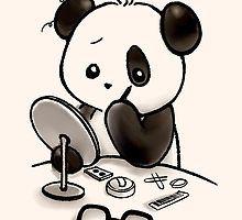 ' by Panda And Polar Bear Panda Make-up, Cartoon Panda, Panda Art, Panda Love, Cute Cartoon, Panda Eyes, Cute Panda Drawing, Cute Animal Drawings, Kawaii Drawings