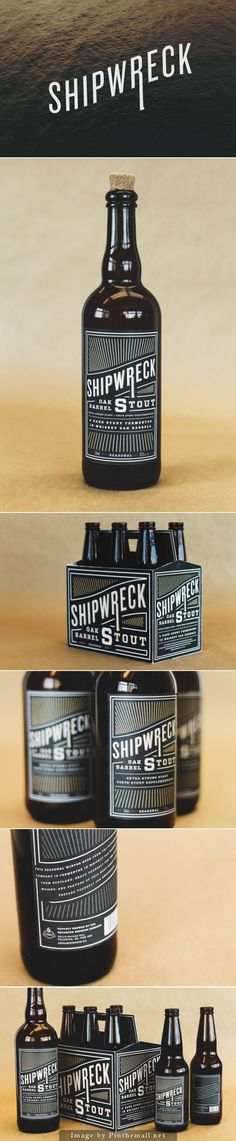 Shipwreck Stout beer #packaging design. Check out this great typography!