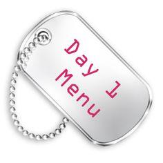 military diet day 1 menu