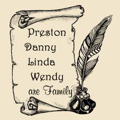 family scroll tattoo