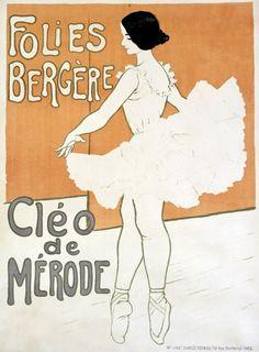 "Cléo de Mérode. Ballerina in Folies Bergère, 1901. Cléopatra Diane (""Cléo"") de Mérode (French, 1875-1966)"
