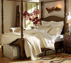 Love the old suitcases under the bed.  And everything else Pottery Barn, of course.... | Pottery Barn